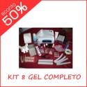 Kit Completo Fresa + Lampada + 8 Gel Uv
