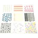 SET COMPLETO Stickers Adesivo 3D - 9 Confezioni